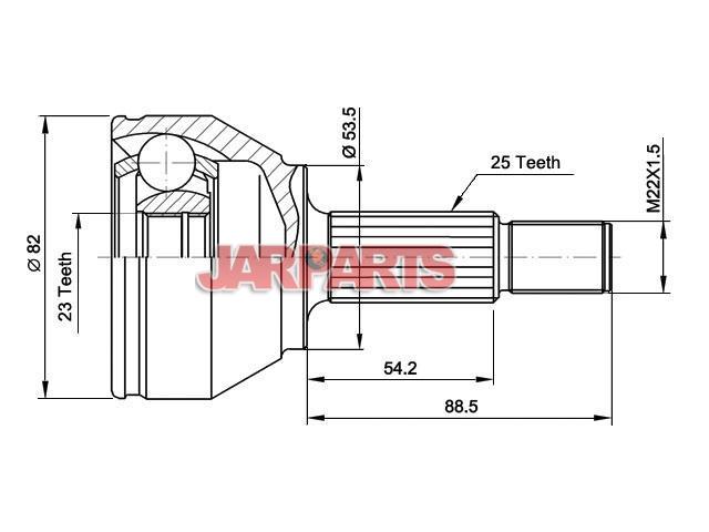 Metelli 15-1354 Joint Kit drive shaft